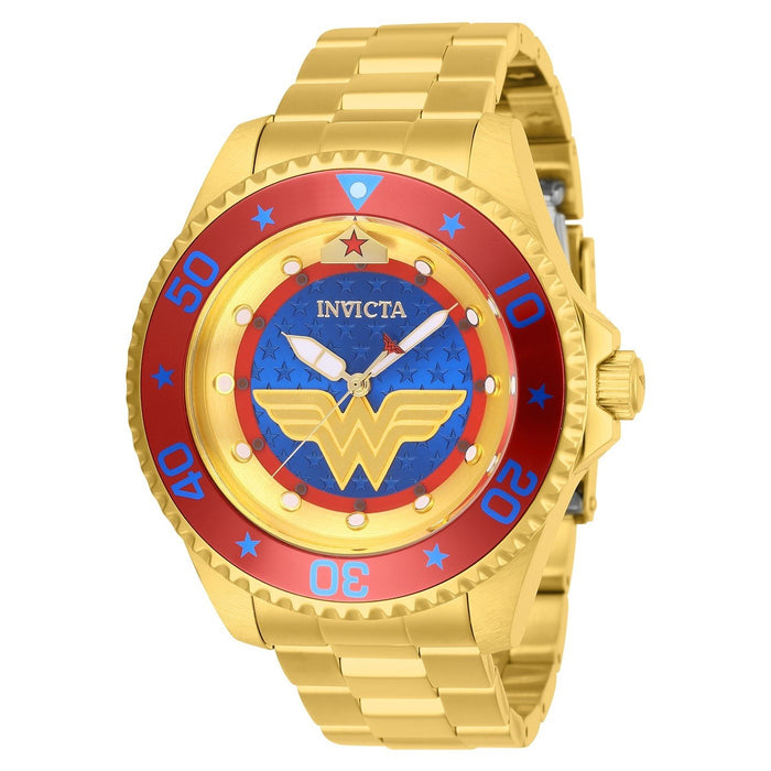 Invicta Men's 27137 Wonder Woman Gold-Tone Stainless Steel Watch