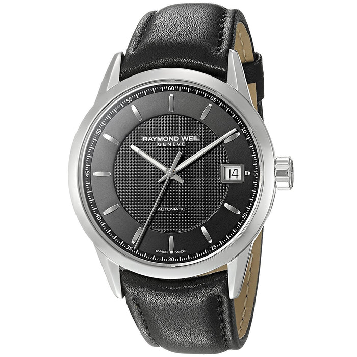 Raymond Weil Men's 2740-STC-20021 Freelancer Automatic Black Leather Watch