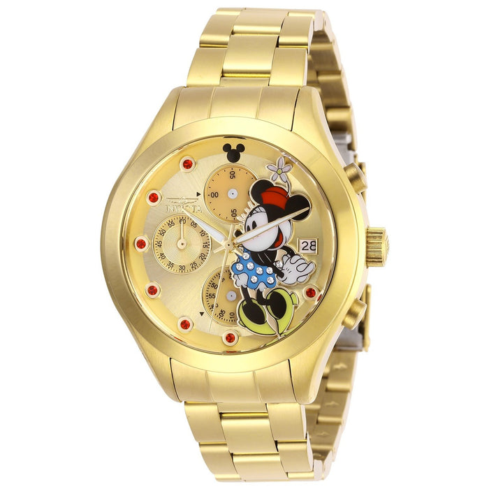 Invicta Women's 27402 Disney Minnie Mouse Gold-Tone Stainless Steel Watch