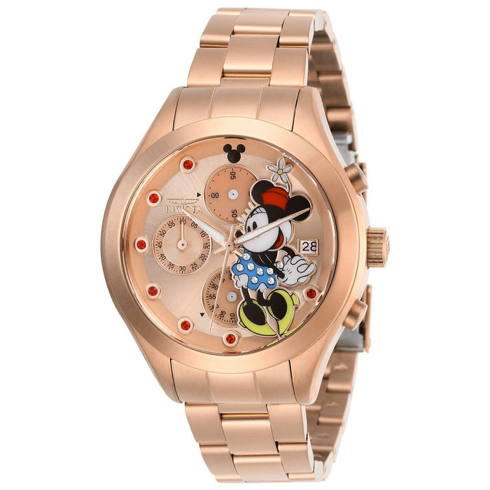 Invicta Women's 27403 Disney Minnie Mouse Rose-Tone Stainless Steel Watch