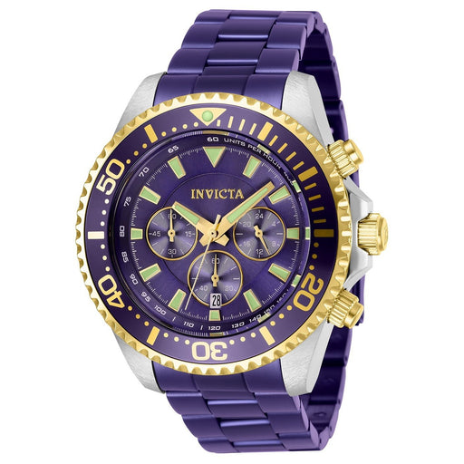 Invicta Men's 27479 Pro Diver Purple Stainless Steel Watch