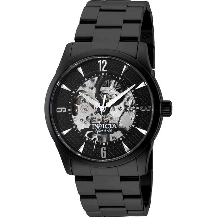 Invicta Men's 27585 Objet D Art Automatic Black Stainless Steel Watch