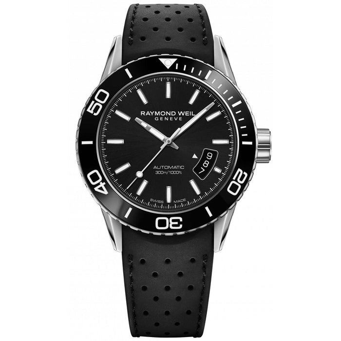 Raymond Weil Men's 2760-SR1-20001 Freelancer Automatic Black Rubber Watch