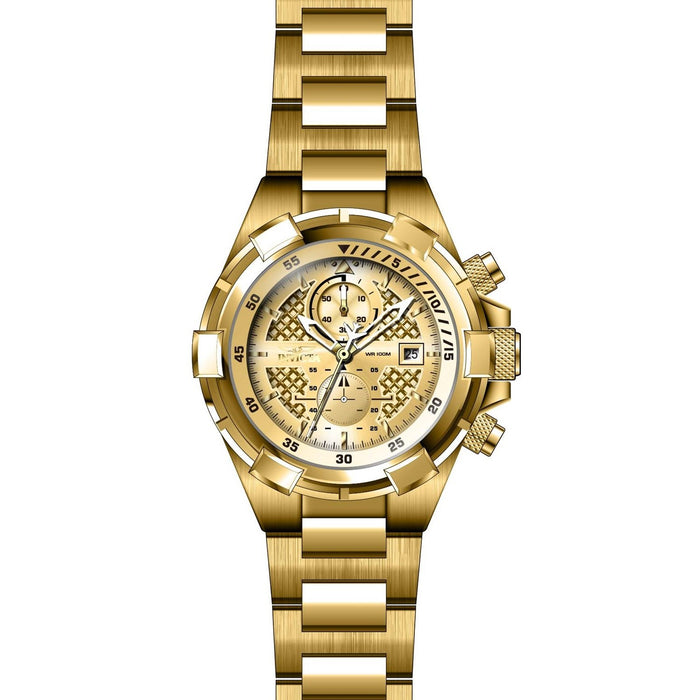 Invicta Men's 28122 Aviator Gold-Tone Stainless Steel Watch