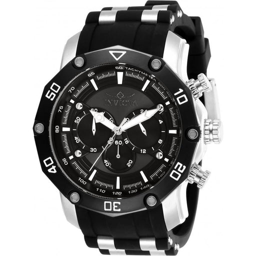 Invicta Men's 28753 Pro Diver Black and Silver Inserts Polyurethane Watch