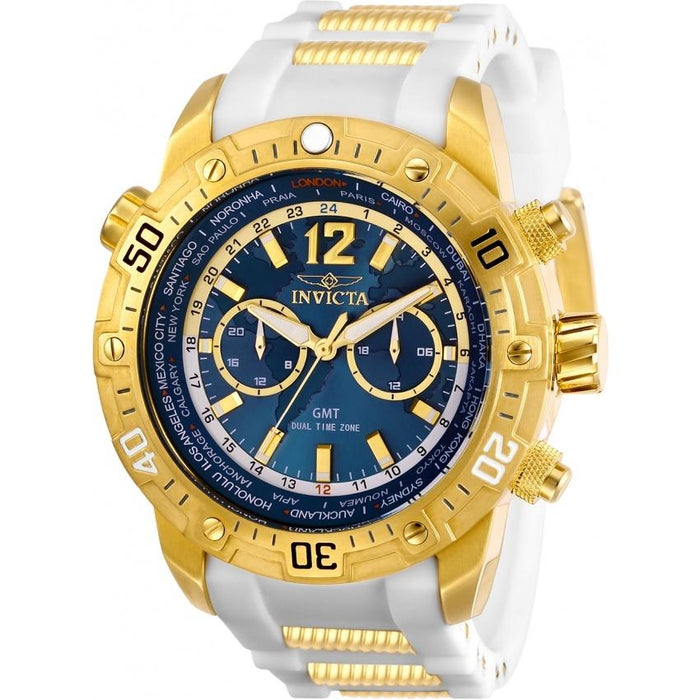 Invicta Men's 29918 Aviator White and GLD Ins Polyurethane and Stainless Steel Watch