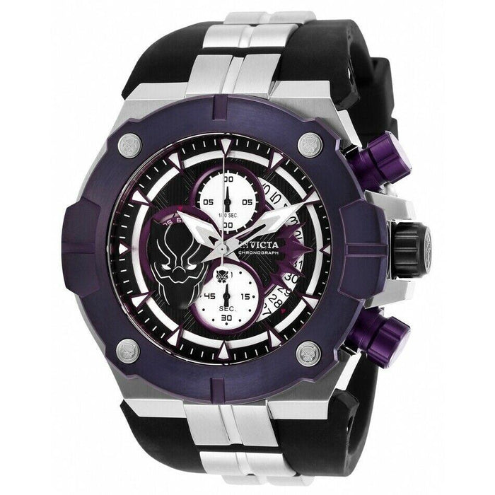 Invicta Men's 30314 Marvel Black Panther Chronograph Black Silicone Watch