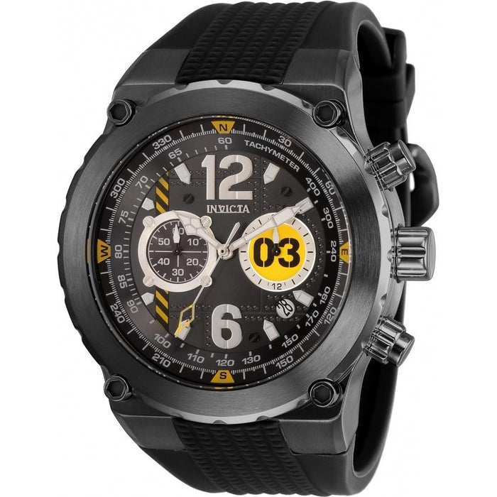 Invicta Men's 31584 Aviator Black Silicone Watch