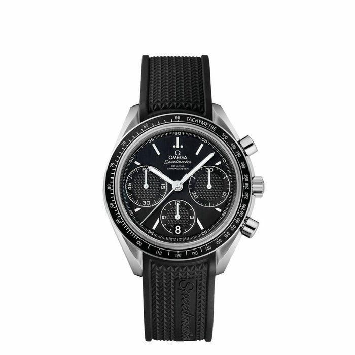 Omega Men's 326.32.40.50.01.001 Speedmaster Chronograph Black Rubber Watch