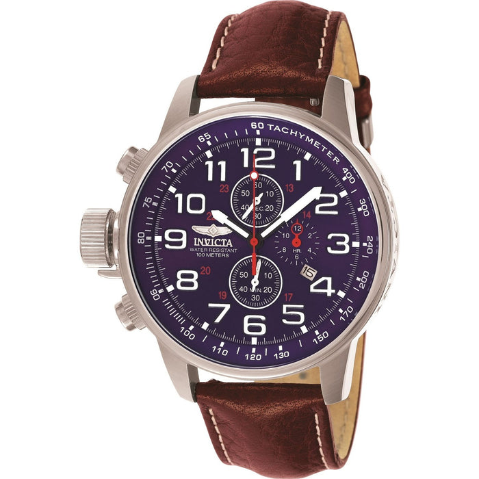 Invicta Men's 3328 I-Force Lefty Brown Leather Watch