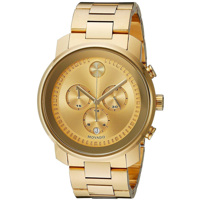 3504271a9 Movado Men's 3600278 Bold Chronograph Gold-tone Stainless Steel Watch
