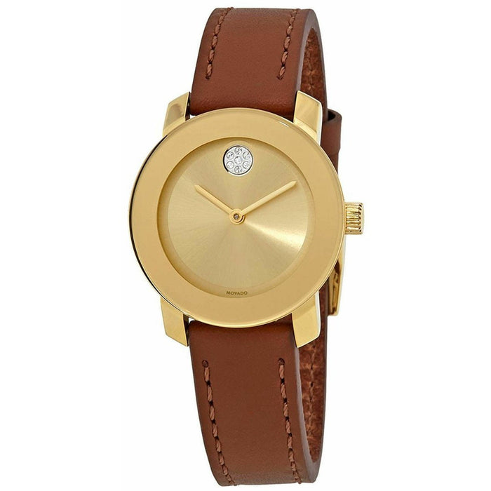 Movado Women's 3600437 Bold Brown Leather Watch