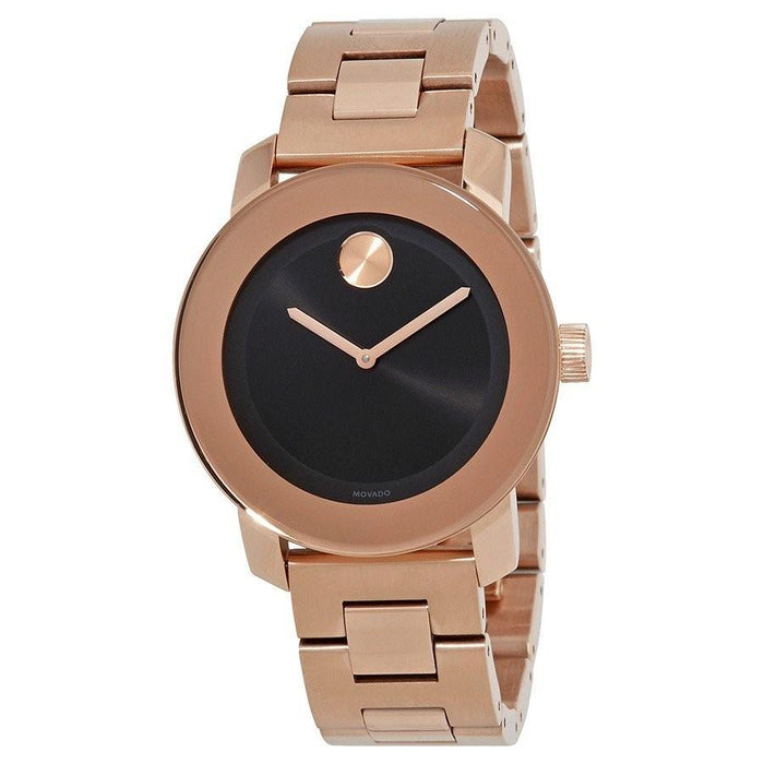 Movado Unisex 3600463 Sunray Dot Rose Gold-Tone Stainless Steel Watch