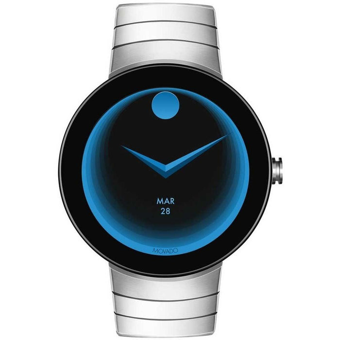 Movado Men's 3660017 Connect Smartwatch Androis IOS NFC Payment Bluetooth  Microphone Accelerometer Gyroscope Ambient Light Sensor Stainless Steel