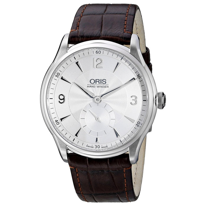Oris Men's 39675804051LS Artelier Hand Wind Brown Leather Watch