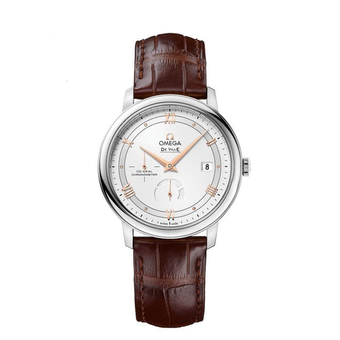Omega Men's 424.13.40.21.02.002 De Ville Prestige Opaline  Brown Leather Watch