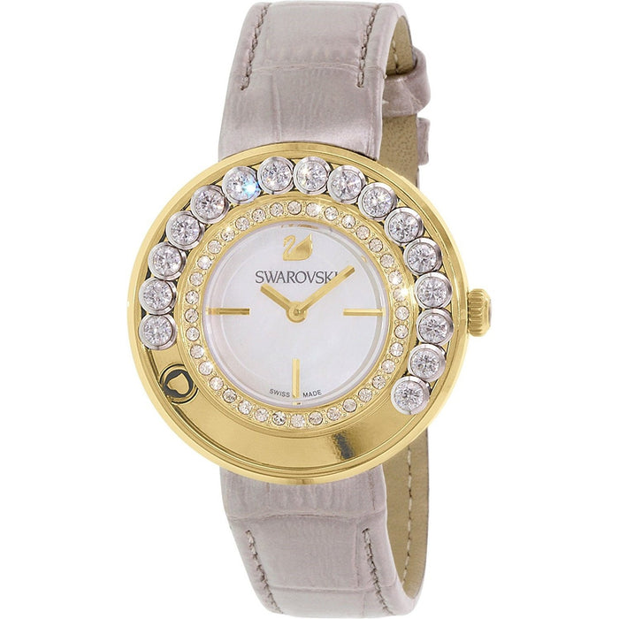 Swarovski Women's 5027203 Lovely Crystal Gold-Tone Leather Watch