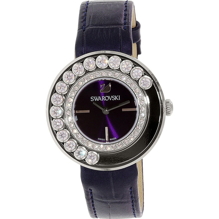 Swarovski Women's 5027205 Lovely Crystal Black Leather Watch