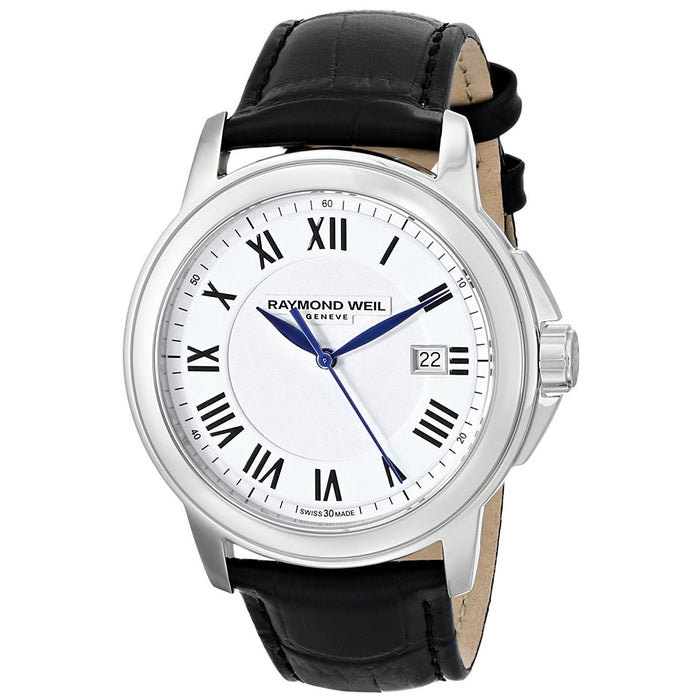 Raymond Weil Men's 5578-STC-00300 Tradition Black Leather Watch