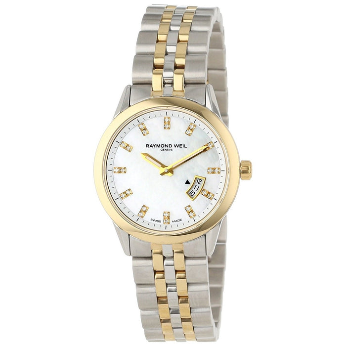 Raymond Weil Women's 5670-STP-97091 Freelancer Diamond Two-Tone Stainless Steel Watch