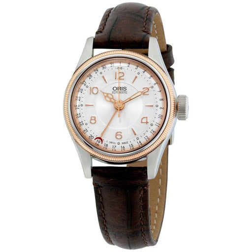 Oris Women's 59476954361LS Big Crown Pointer Date Brown Leather Watch