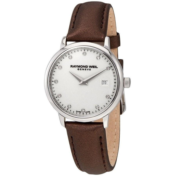 Raymond Weil Women's 5988-STC-40081 Toccata Diamond Brown Leather Watch