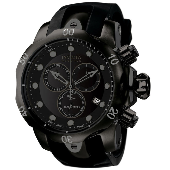 Invicta Men's 6051 Venom Reserve Black Polyurethane Watch