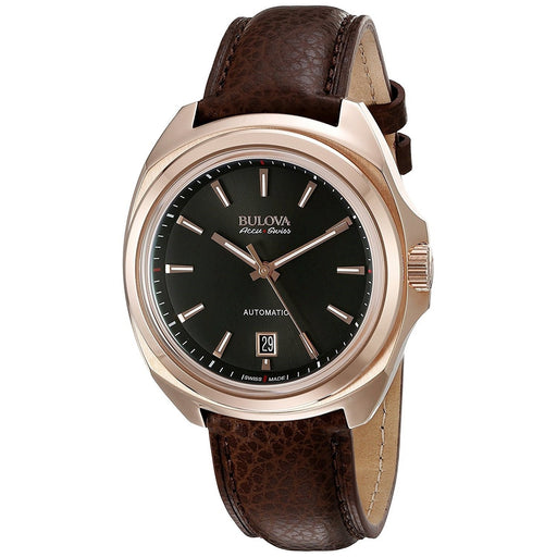 Bulova Men's 64B126 Telc Automatic Brown Leather Watch