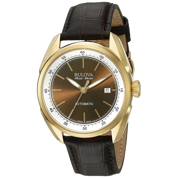 Bulova Men's 64B127 Tellaro Automatic Brown Leather Watch