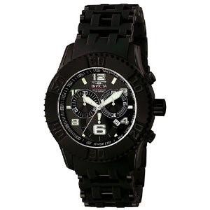 Invicta Men's 6713 Sea Spider Chronograph Black Polyurethane Watch