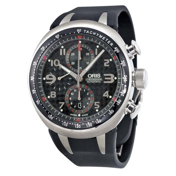 Oris Men's 67475877264RS TT3 Chronograph Black Rubber Watch