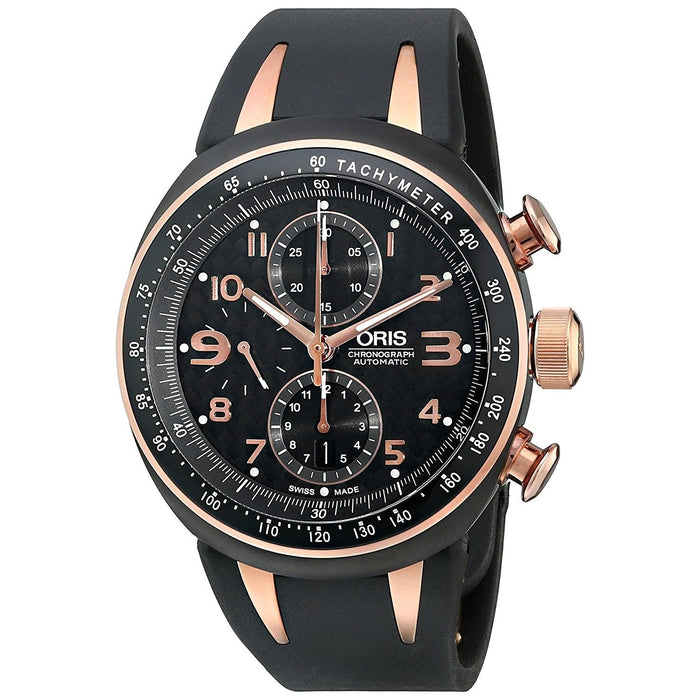 Oris Men's 67475877764RS TT3 Automatic Chronograph Black Rubber Watch
