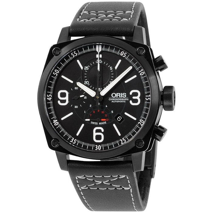 Oris Men's 67476334794LS BC4 Chronograph Automatic Black Leather Watch