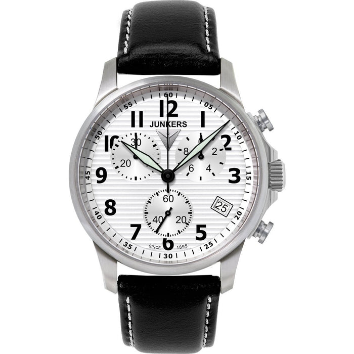 Junkers Men's 6890-1 Chronograph Black Leather Watch