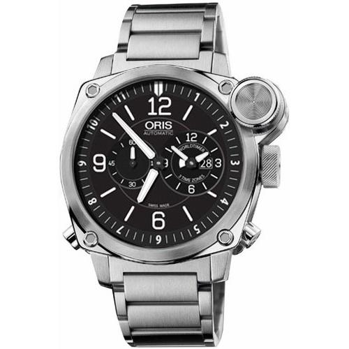 Oris Men's 69076154164MB BC4 Automatic Chronograph Stainless Steel Watch