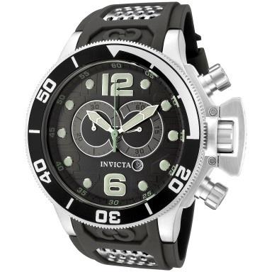 Invicta Men's 6916 Corduba Chronograph Black and Silver Inserts Polyurethane Watch