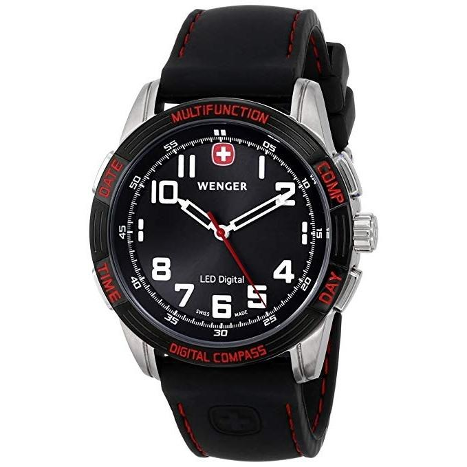 Wenger Men's 70430 LED Nomad Black Silicone Watch