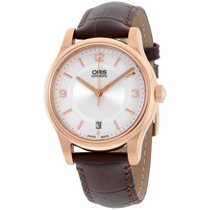 Oris Men's 73375784831LS Classic Automatic Brown Leather Watch