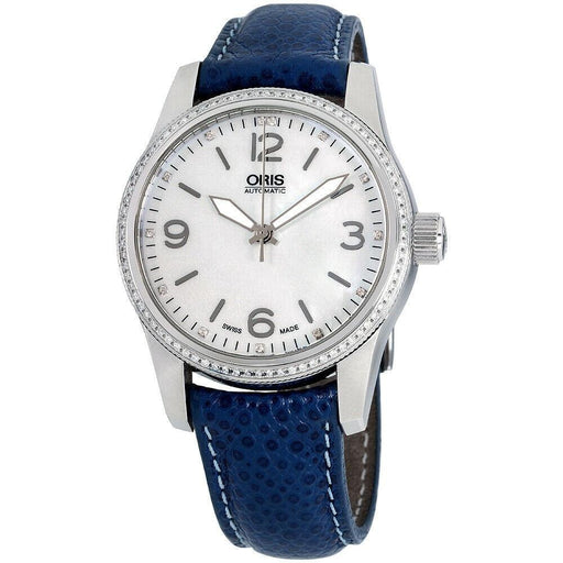 Oris Women's 73376494966LSBLUE Big Crown Swiss Hunter Team Blue Leather Watch