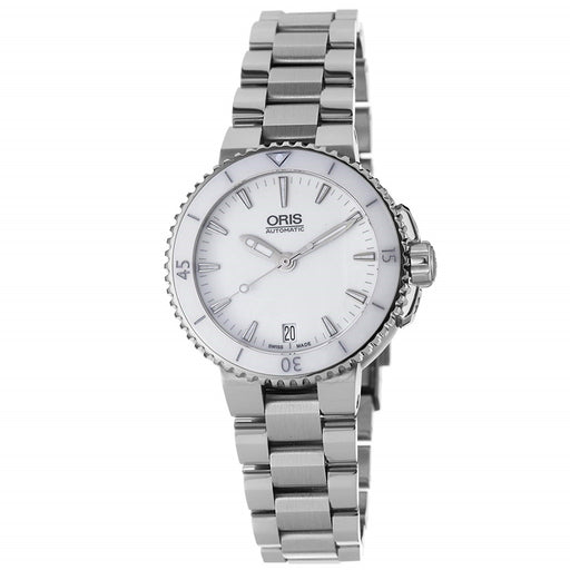 Oris Women's 73376524156MB Aquis Stainless Steel Watch