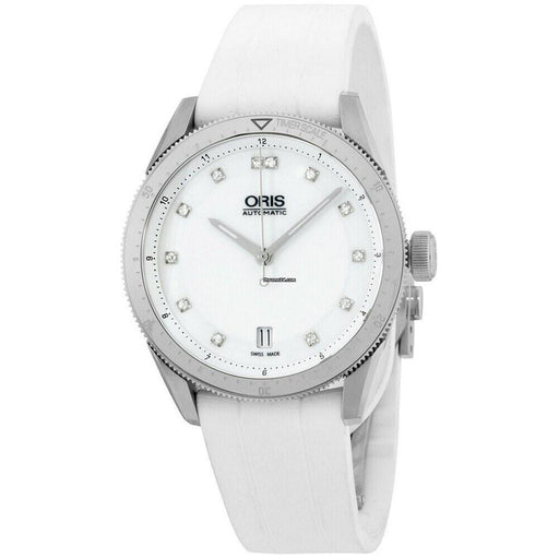 Oris Women's 73376714191RS Artix White Silicone Watch
