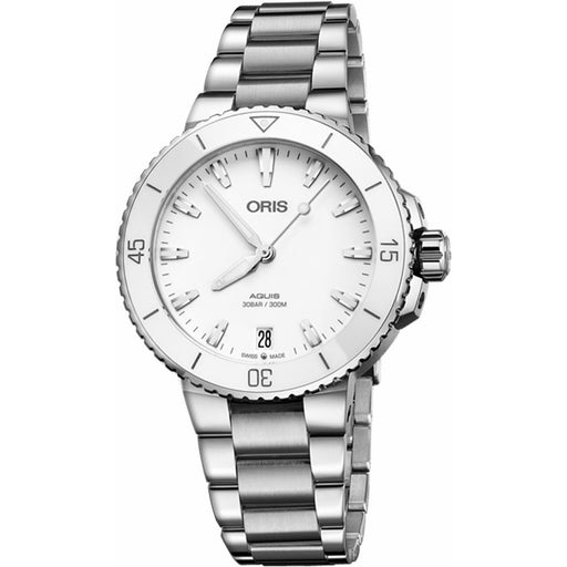 Oris Women's 73377314151MB Aquis Stainless Steel Watch