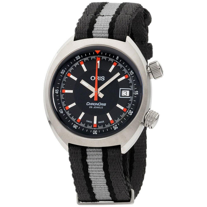 Oris Men's 73377374054TS Chronoris Two-Tone Canvas Watch