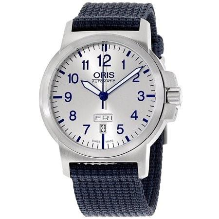 Oris Men's 73576414161TSBLUE BC3 Blue Nylon Watch