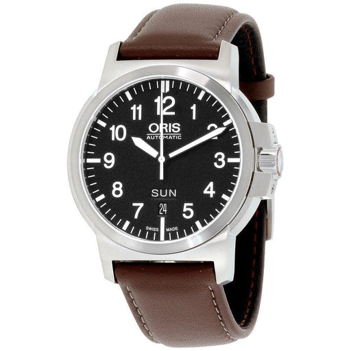 Oris Men's 73576414164LS BC3 Brown Leather Watch