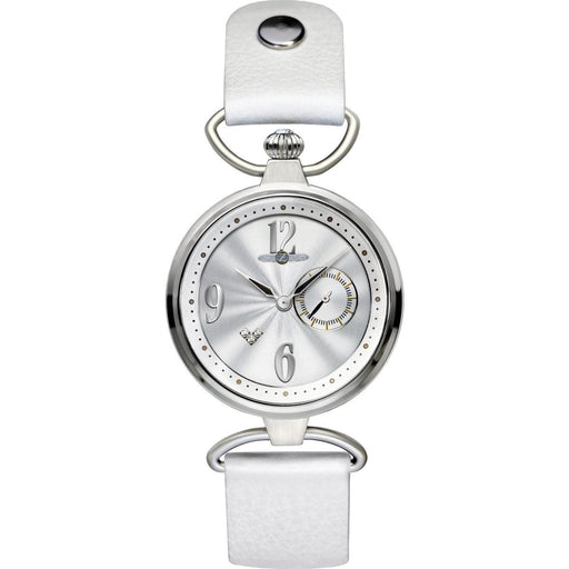 Zeppelin Women's 7437-1 Princess of the Sky Crystal White Leather Watch