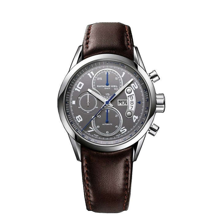 Raymond Weil Men's 7730-STC-05600 Freelancer Chronograph Automatic Brown Leather Watch