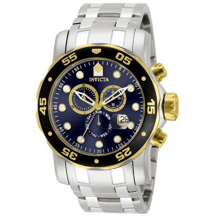 Invicta Men's 80041 Pro Diver Scuba Chronograph Stainless Steel Watch