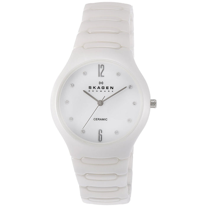 Skagen Women's 817SSXC Crystal White Ceramic Watch