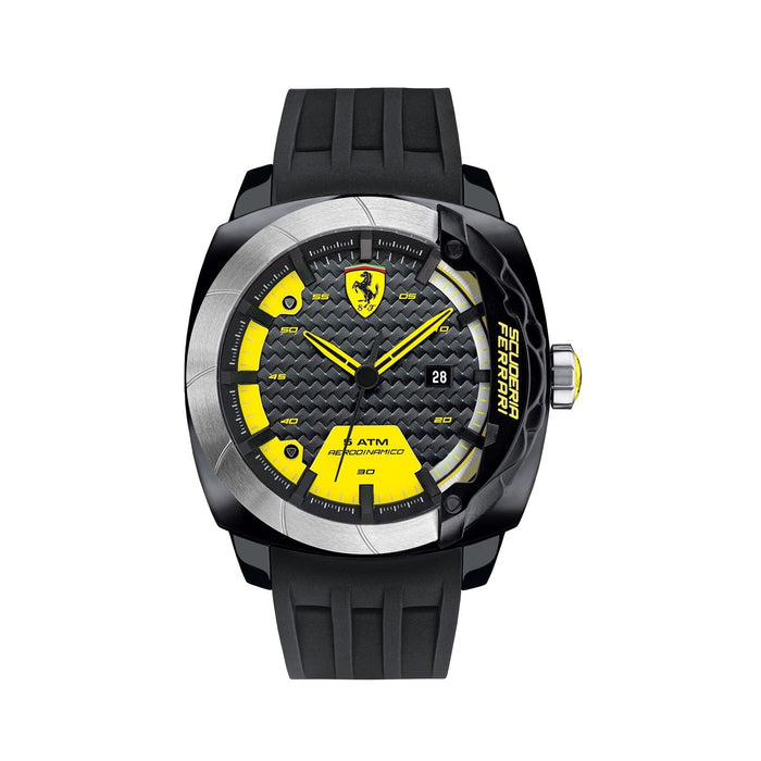 Ferrari Men's 830204 Scuderia Aerodinamico Black Silicone Watch